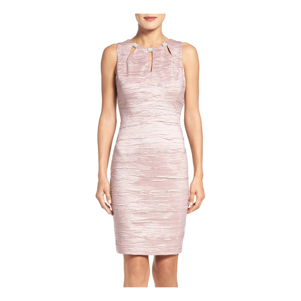 ELIZA J embellished cutout taffeta sheath dress - Get ready to turn heads in this party-ready cocktail dress...