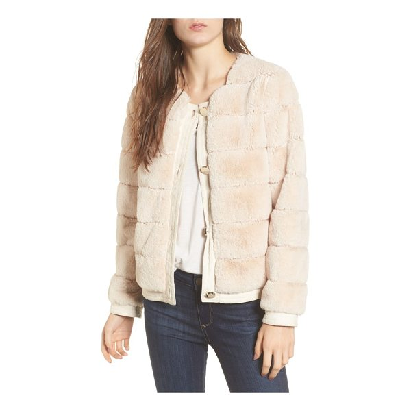ELIZA J faux fur jacket - Lush faux fur with channel-grooved detailing adds...