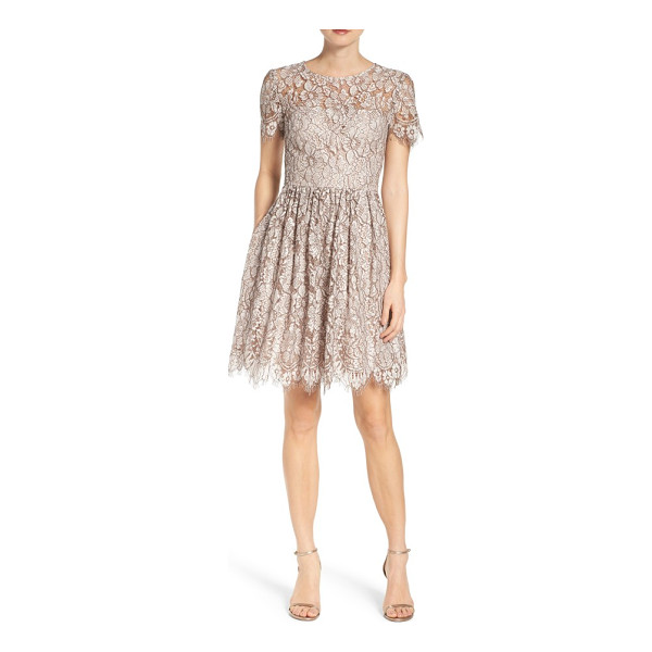 ELIZA J lace fit & flare dress - Get ready to twirl on the dance floor in this party dress...