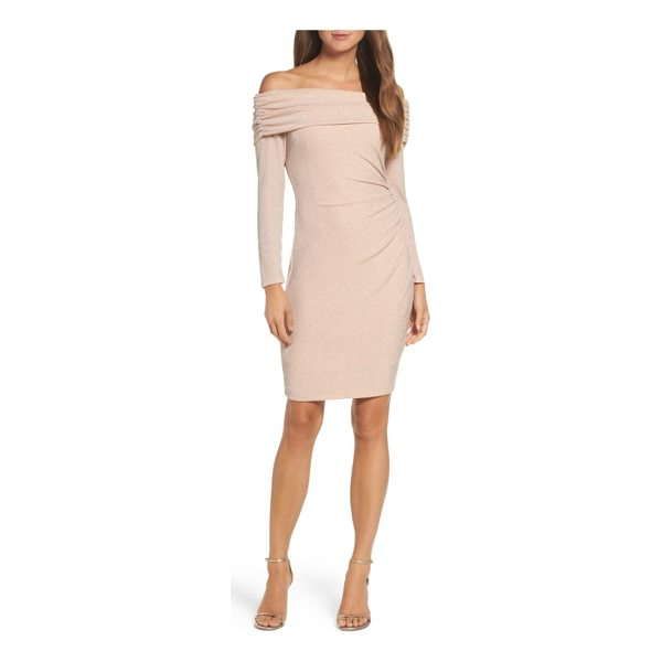 ELIZA J off the shoulder sheath dress - This sheath with just enough stretch fits in all the right...