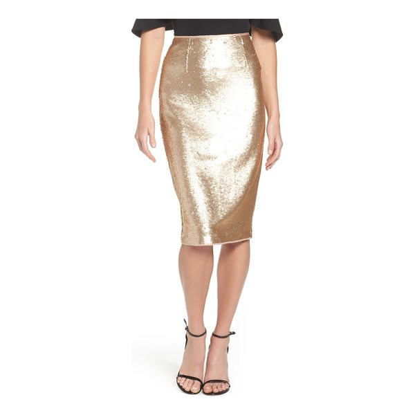 ELIZA J paillette pencil skirt - Add special-event shine to your look with a party-ready...