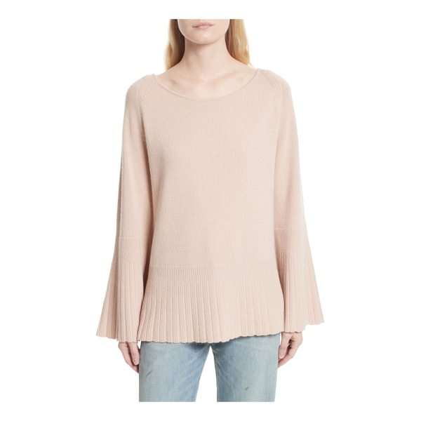 ELIZABETH AND JAMES clarette bell sleeve sweater - A wide neckline beautifully frames the face in this...