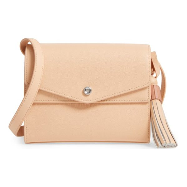 ELIZABETH AND JAMES eloise field crossbody bag - The distinctively textured leather and matching tassel are...