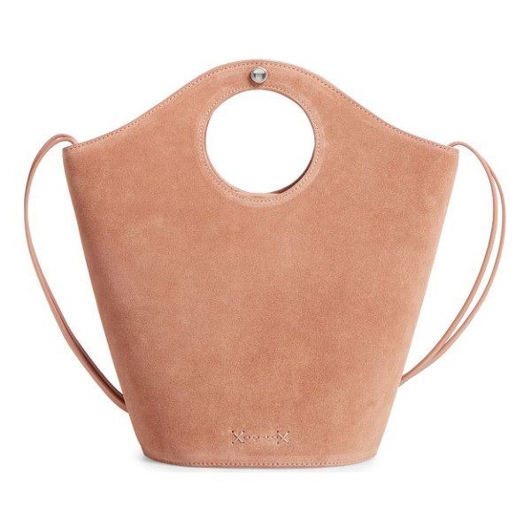 ELIZABETH AND JAMES small market suede shopper - Circular cutouts form the integrated handles of a compact...