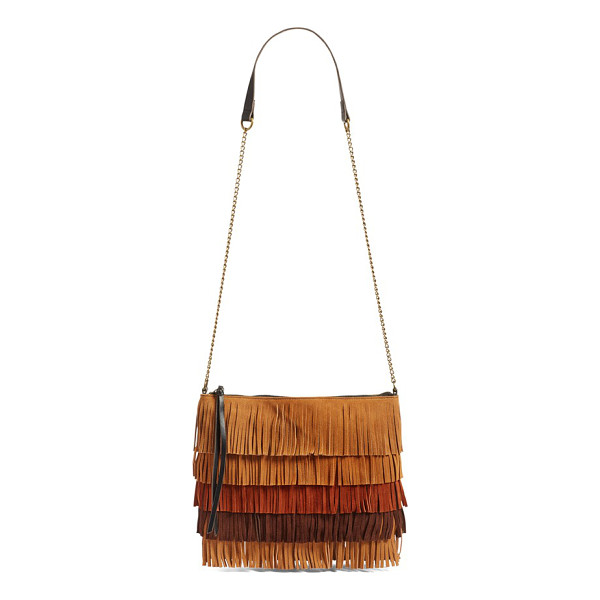 ELLE & JAE GYPSET 'tulum' suede fringe crossbody bag - Inspired by the rich beauty of ancient Mayan architecture...