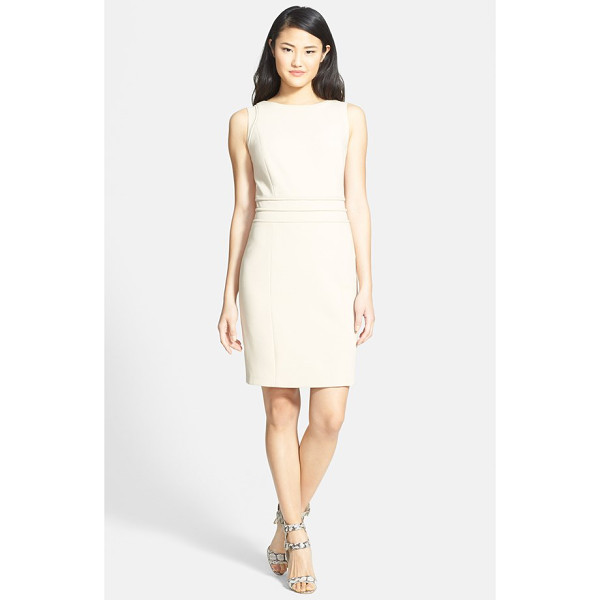 ELLEN TRACY piped seam detail sheath dress - Tonal piping subtly accentuates the slender waist and...