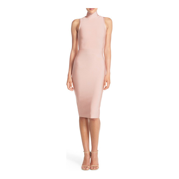 ELLIATT aura stretch midi body-con dress - Thick, lustrous knit hugs and highlights your curves down...