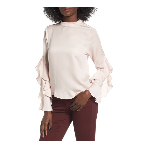 ELODIE ruffle sleeve blouse - Diaphanous ruffles add romantic volume and trendy style to...