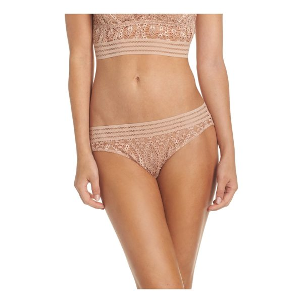 ELSE baroque bikini - Saucy and revealing in sheer geometric lace with a stretchy...