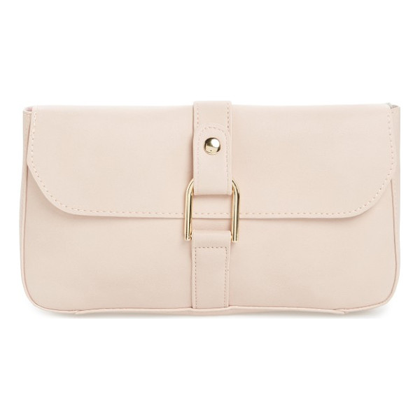 EMPERIA faux leather lock clutch - Sleek U-lock hardware supplies modern polish to this faux...