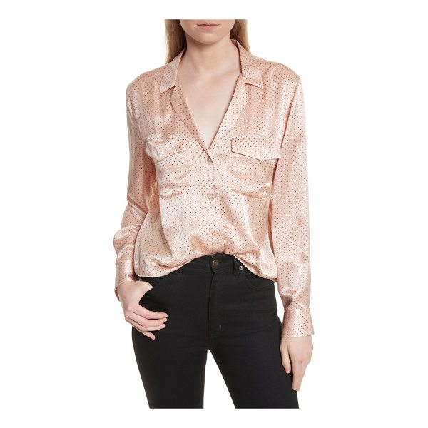 EQUIPMENT ansley dot silk shirt - Channeling luxuriant loungewear, a feminine shirt is cut...