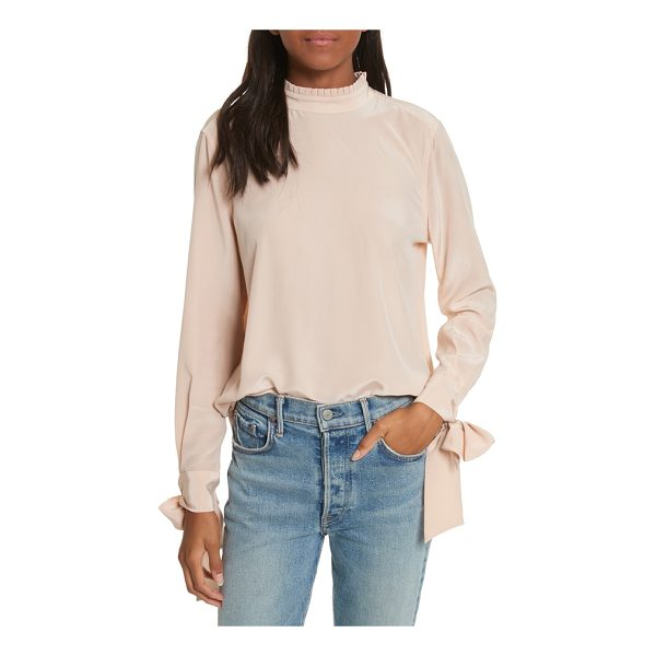 EQUIPMENT aurora tie sleeve blouse - A frilly high neck and feminine bows tied at the back and...
