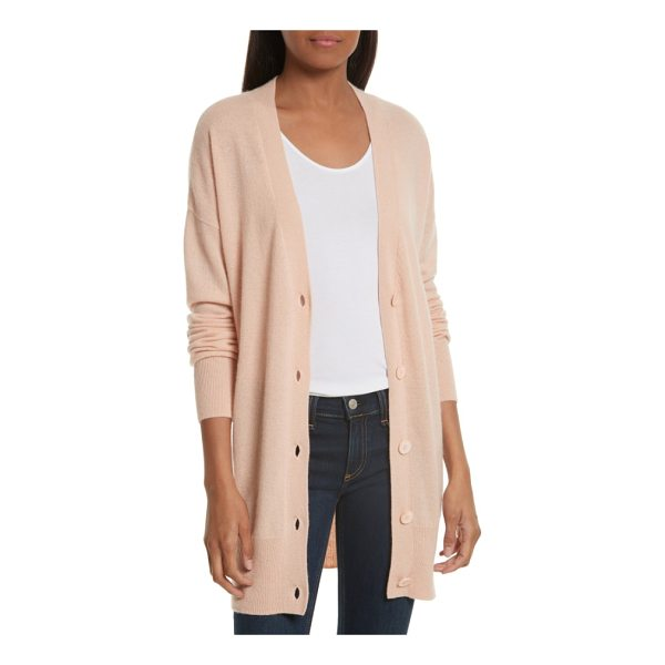 EQUIPMENT gia cashmere button cardigan - Super cozy and wonderfully oversized, a V-neck boyfriend...