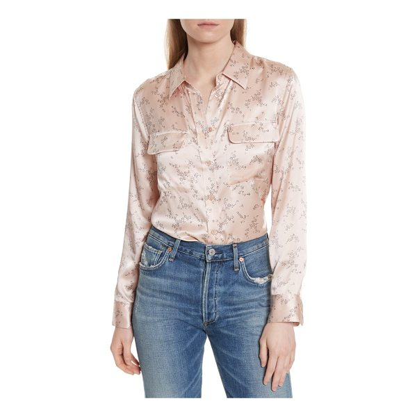 EQUIPMENT slim signature print silk shirt - The slimmer version of Equipment's classic shirt cut gets a...