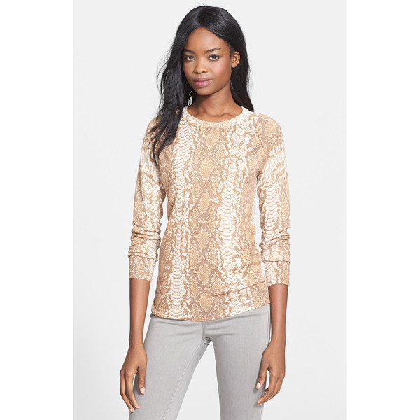 EQUIPMENT sloane crewneck sweater - A snakeskin print in a neutral palette lends refined...