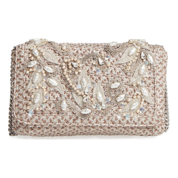 ERIC JAVITS devina embellished clutch - You don't have to save this twinkly woven clutch for
