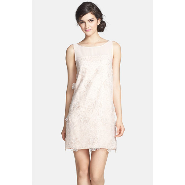ERIN ERIN FETHERSTON faye embroidered organza shift dress - Floral appliques similar to the blossoming embroidered...