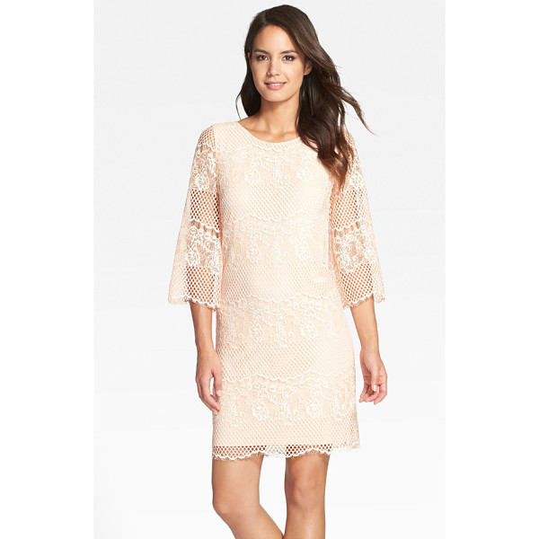 ERIN ERIN FETHERSTON maybelle lace shift dress - Floral- and honeycomb-patterned lace tethered with...