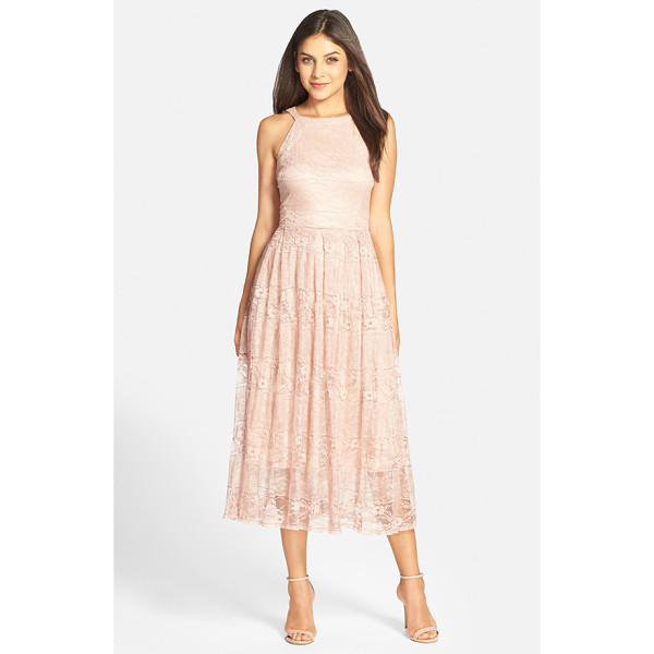 EVA BY EVA FRANCO jane lace midi dress - Dainty floral lace adds an ethereal element to a graceful,...