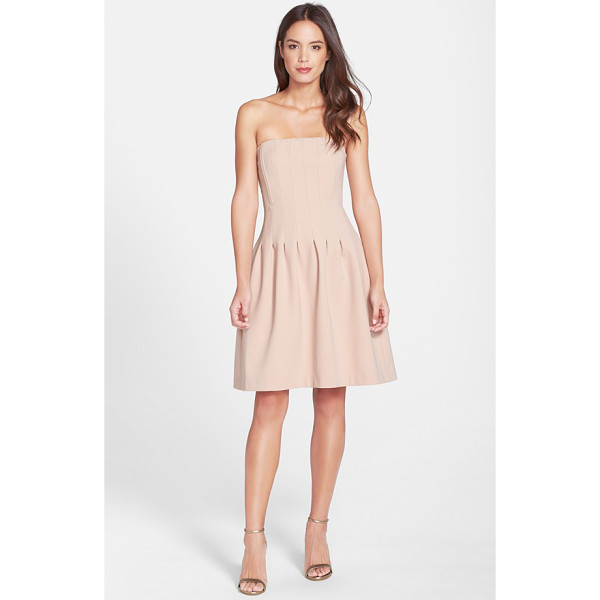FELICITY & COCO jaelynn seamed strapless fit & flare dress - A chic strapless party dress is sculpted by subtle seams...