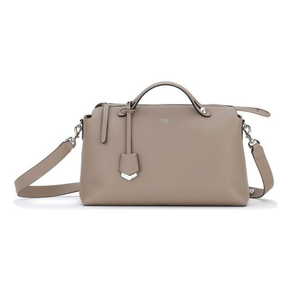 FENDI large by the way leather shoulder bag - An engraved luggage tag and polished hardware provide...