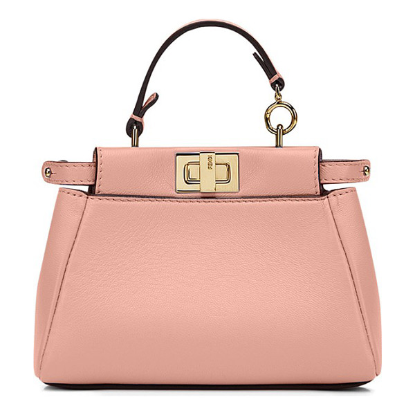 FENDI Micro peekaboo nappa leather bag - A tiny bag with major impact, Fendi's Micro Peekaboo is the...
