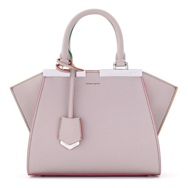 FENDI 'mini 3jours' calfskin leather shopper - Hand-painted color-pop edges and meticulous stitching