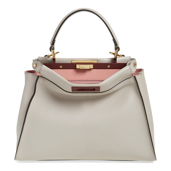FENDI 'peek-a-boo' medium crossbody bag - A pristinely stitched, immaculate calfskin satchel opens to