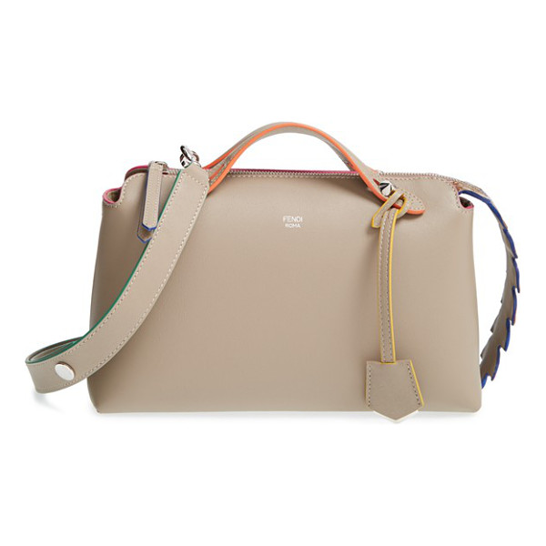 FENDI 'small by the way - A gradient-hued crocodile-leather zip placket adds exotic...