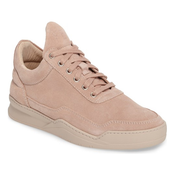 FILLING PIECES sneaker - Rose-goldtone hardware elevates a leather sneaker that...