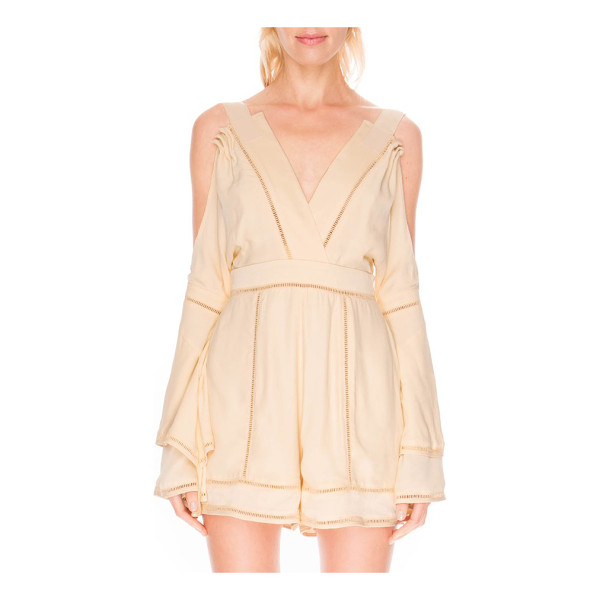 FINDERS KEEPERS cold shoulder romper - A cold-shoulder design and insets of open stitching put a...