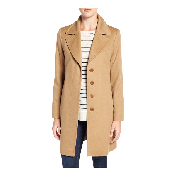 FLEURETTE notch collar lightweight cashmere coat - A coat you'll keep for many seasons is exquisitely tailored...