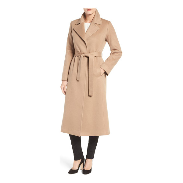 FLEURETTE notch collar long cashmere wrap coat - Pure cashmere lends an ultra-luxe feel to a timelessly...