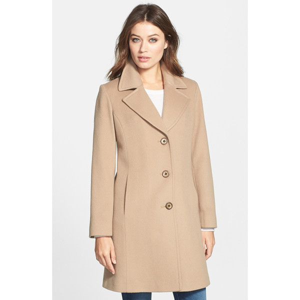 FLEURETTE petite   notch collar wool walking coat - An investment in enduring elegance, a simply styled walking...