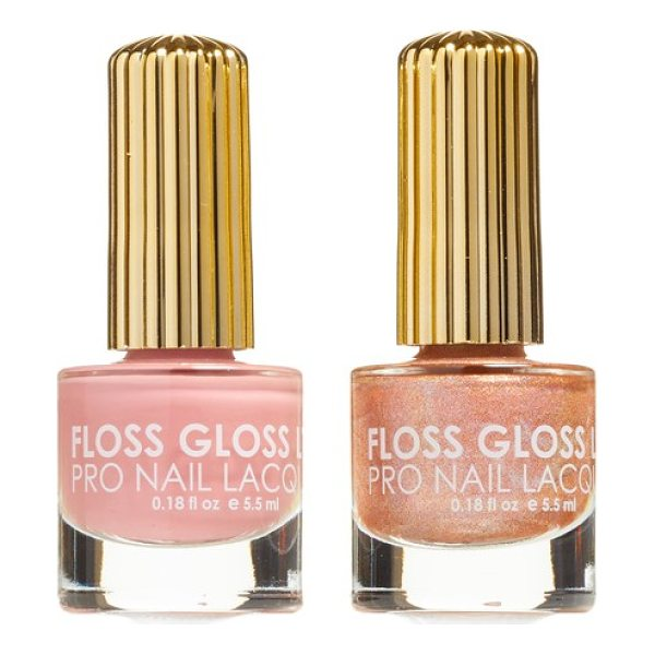FLOSS GLOSS lipliner & disco dust set of 2 nail lacquers - Designed in Brooklyn, New York, and made in California,...