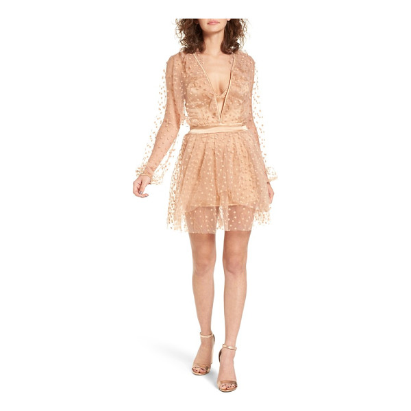 FOR LOVE & LEMONS all that glitter minidress - With a plunging neckline and floaty star-embellished...