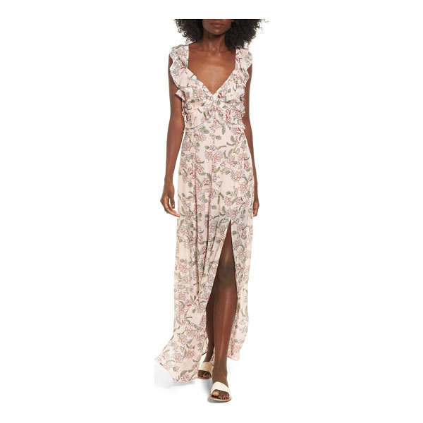 FOR LOVE & LEMONS bee balm floral maxi dress - A lovely garden lunch beneath a branch canopy calls for...