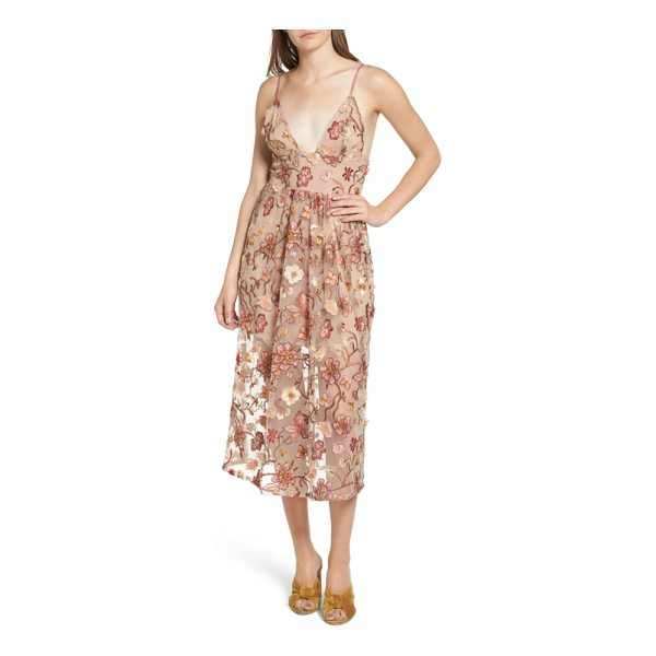 FOR LOVE & LEMONS botanic midi dress - Effortlessly romantic and vibrant in its own way, this...