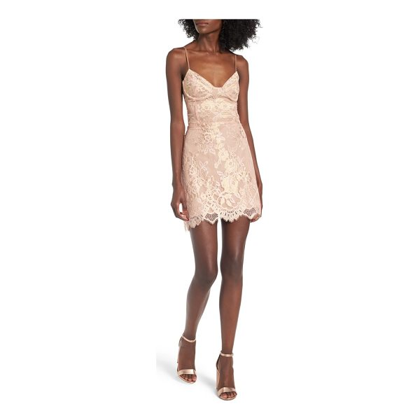 FOR LOVE & LEMONS bumble bustier slipdress - Throw caution to the wind in a simply stunning bustier...