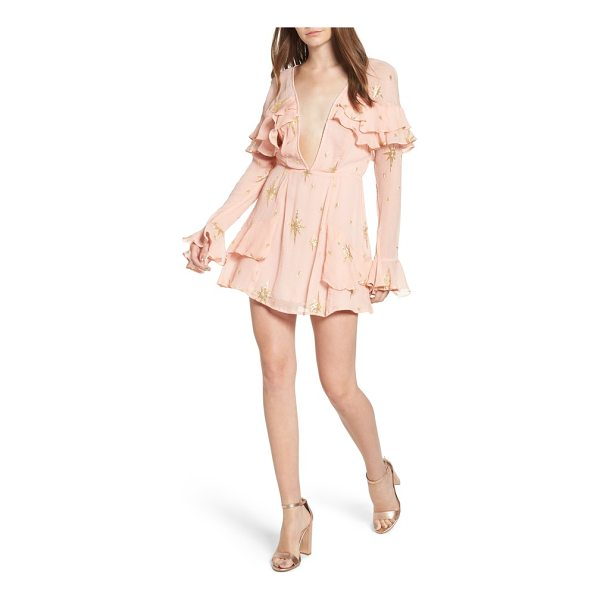 FOR LOVE & LEMONS gilded star minidress - Channel feminine romance with this minidress featuring a...