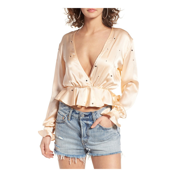 FOR LOVE & LEMONS twinkle crop blouse - This cropped and ruffled blouse is a throwback to vintage...