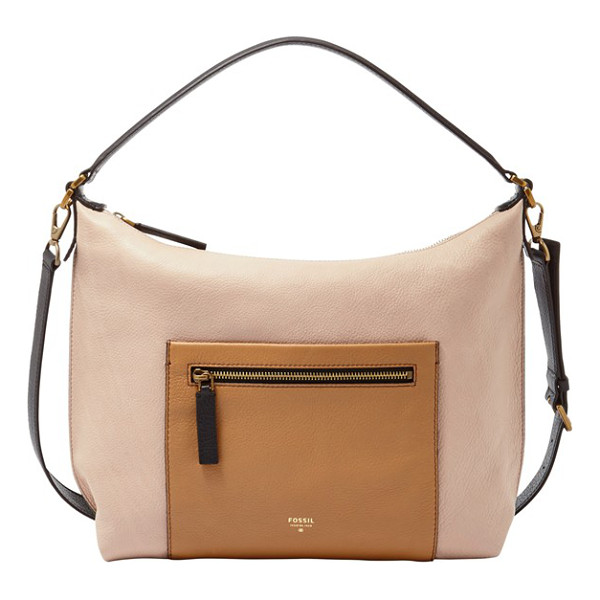 FOSSIL Vickery leather shoulder bag - Function meets fashion with this leather bag designed with...