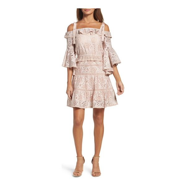 FOXIEDOX berry flared sleeve cold shoulder dress - This boho-chic lace minidress embodies retro romance with...