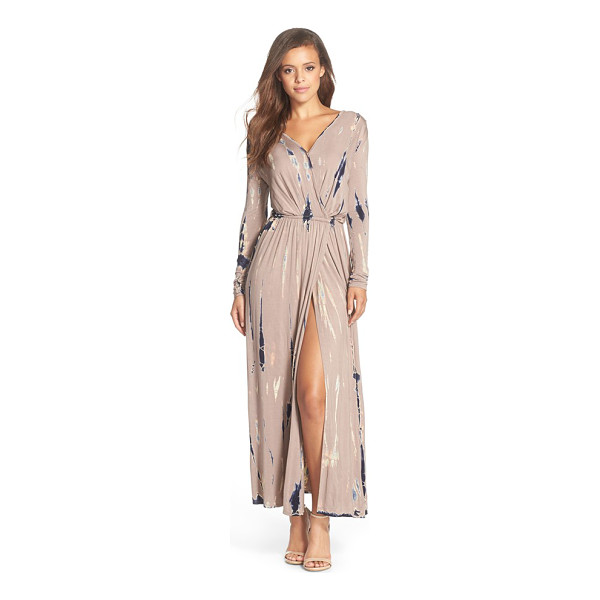 FRAICHE BY J tie dye faux wrap maxi dress - A faux-wrap front and a fitted waistline that releases into...