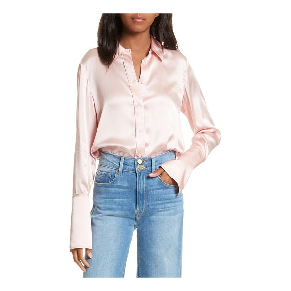 FRAME long cuff silk shirt - Contrast piping highlights the modern tailoring of this...