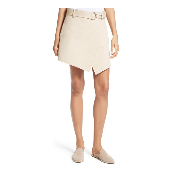 FRAME trench skort - Wrapped at the front to create a cool, angled hem, this...