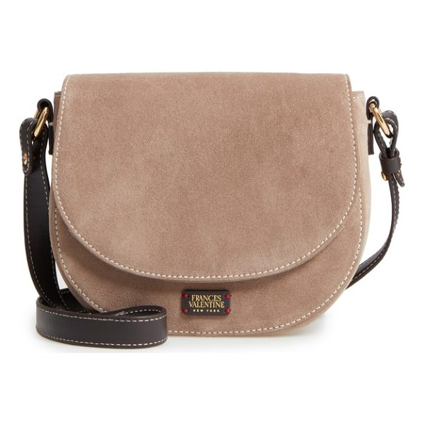 FRANCES VALENTINE mini ellen suede crossbody bag - Just the right size for carefree carrying, this mini suede...