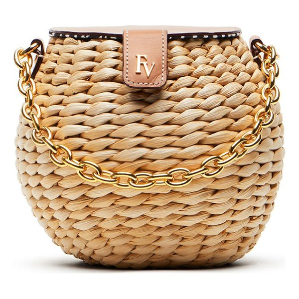 FRANCES VALENTINE mini woven bucket bag - Woven cornhusk construction intensifies the earthy, vintage...