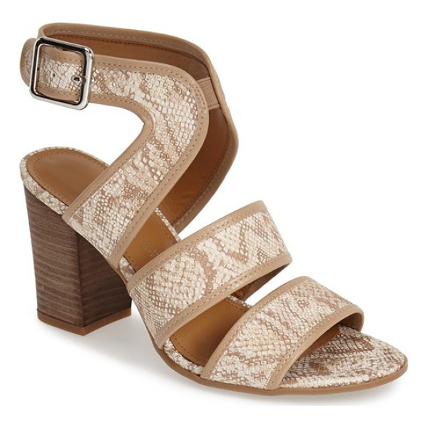 FRANCO SARTO mural sandal - A stacked block heel finishes a sophisticated sandal styled...
