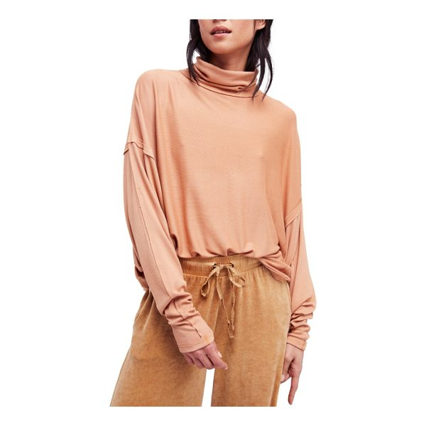 FREE PEOPLE alameda turtleneck top - A soft, stretchy turtleneck top with long batwing sleeves...